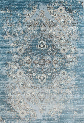 Distressed Blue Are Rug 7'10x10'6  blue