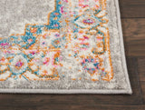 Light Grey Pink  Runner Area Rug - 10'