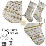 Embroidered White Gold Stockings
