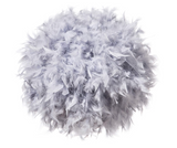 Feather Lamp Shade Grey