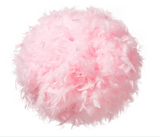 Feather Lamp Shade Pink