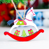 Christmas Wooden Horse Xmas Tree Ornament