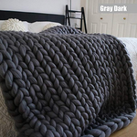 "Monochrome Collection Chunky Knit Blanket 50""x60"""