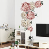 Pink Peony Flower Wall Stickers