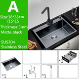 30-inch Black Sink Stainless Steel Kitchen Sinks