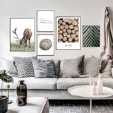 Scenery Deer and Wood Poster