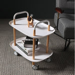 2-Tier Serving Cart with Wheels