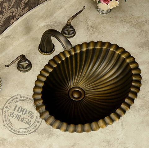 Classic Bronze Bathroom Wash Basin
