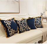 European Embroidered Cushion Cover