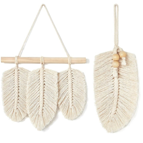 Bohemian Macrame Leaves Decor