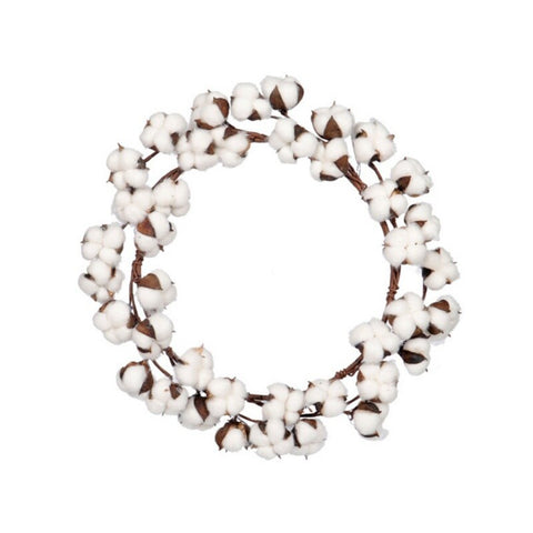 Real Cotton Wreath Wall Decor