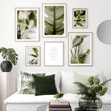 Tropical Leaves and Positivist Quote Poster