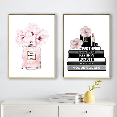 Fashion Brands and Perfume Poster