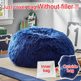 Fluffy Wool Fur Bean Bag Cover