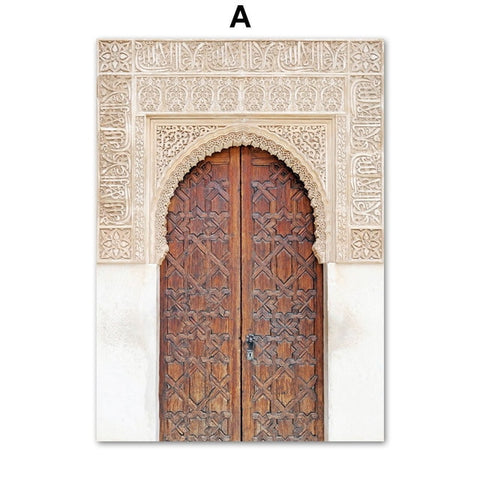 Morocco Door & Abstract Lines Art