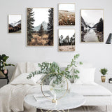 Scandinavian Autumn Scenery Poster