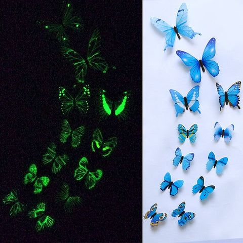 Glow in the Dark Butterfly Wall Sticker