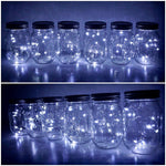 Solar-powered Mason Jar Lights