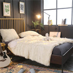Fluffy Faux Fur Duvet Bed Cover