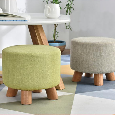 Round Upholstered Pouffe