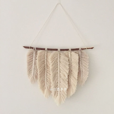 Macrame Feather Decor