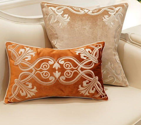 European Embroidered Pillow Cover