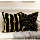 Golden Embroidery Decorative Pillowcase