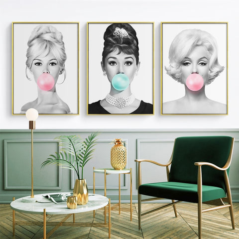Famous Actress Bubble Gum Poster
