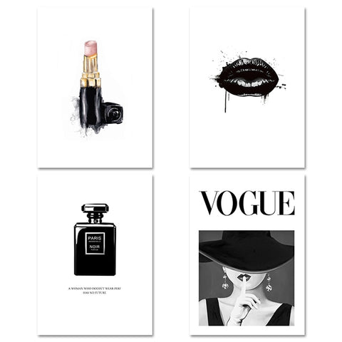 Vogue Lips Fashion Poster