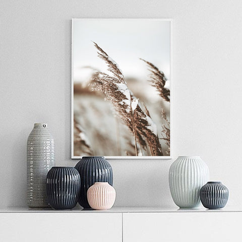 Scandinavian Grass Flower Posters