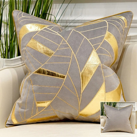 Gold and Silver Embroidery Pillowcase