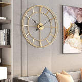 Round Wheel Wall Clock