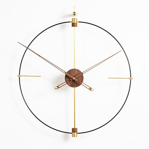 Gold Walnut Wall Clock