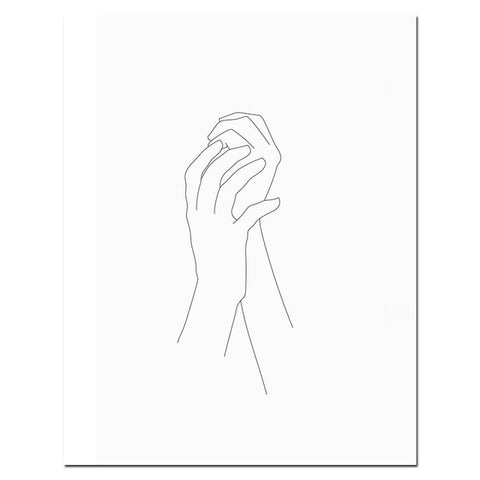 Abstract Minimalist Love Poster