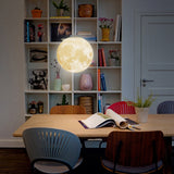 3D Hanging Moon Lamp