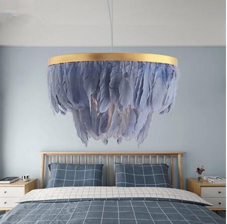 Nordic Feather Hanging Lamp