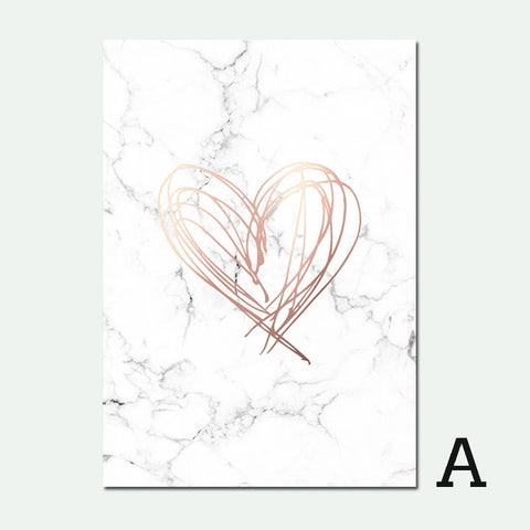 Kiss Heart and Wonderful Abstract Poster