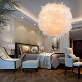 Feather Lamp Droplight Pendant White