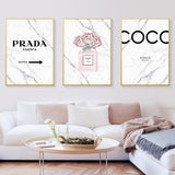 Fashion and Peony Marble Poster