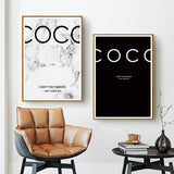 Coco Fashion Quotes Posters