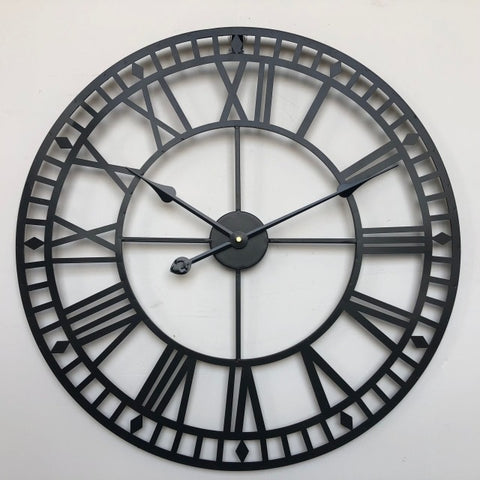 Large Roman Numeral Skeleton Wall Clock