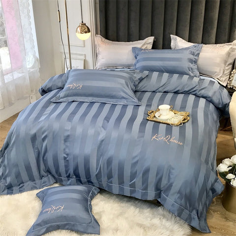 Stripe Silk Bedding Sets