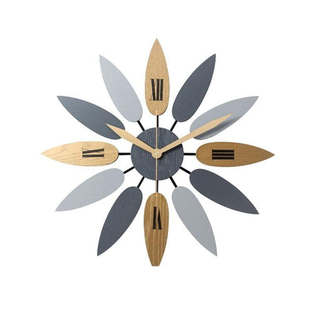 Retro Leaf Wall Clock