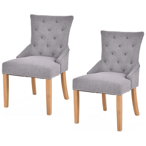 Set Of 2 Armless Dining Chairs