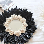 Handmade Tapestry Feather Glass Mirror