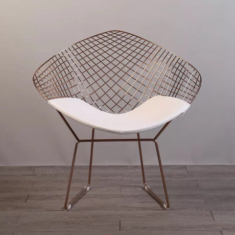 Rose Gold Bertoia Diamond wire Chair