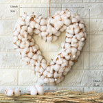 Cotton Heart Wreath Hanging Decor