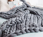 Small Chunky Knit Blanket