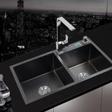 Antibacterial Black Stainless Steel Kitchen Sink