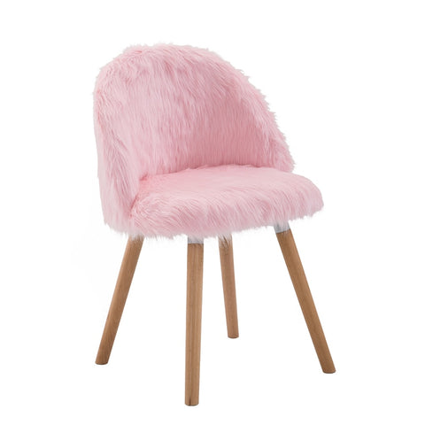 Pink Nordic Chair Girl Chair